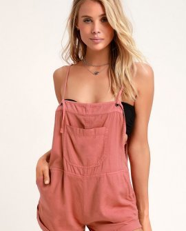 Wild Pursuit Terra Cotta Short Overalls