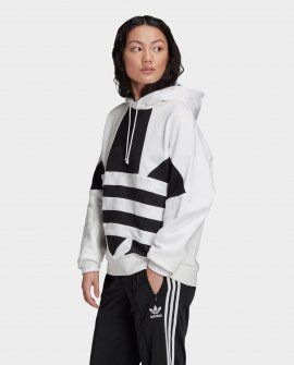 Women's ADIDAS Originals Cropped Large Logo Hoodie
