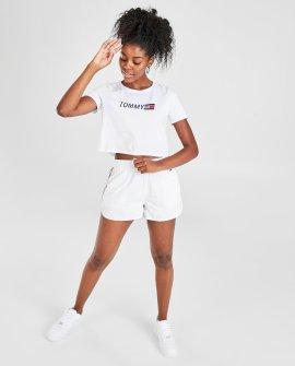 Women's Tommy Hilfiger Logo Crewneck Crop T-Shirt