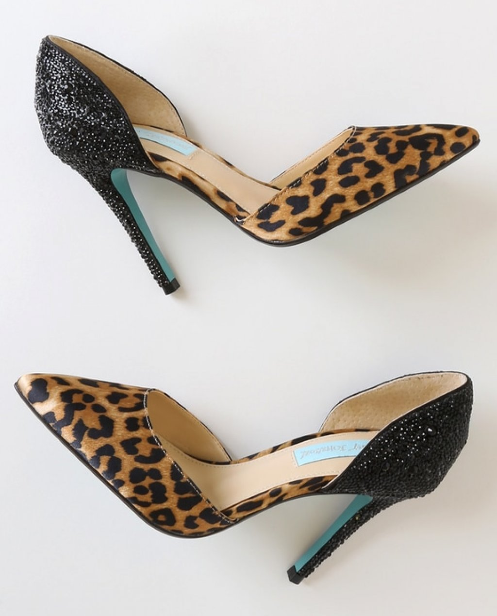 Yara Leopard Pointed-Toe DOrsay Pumps