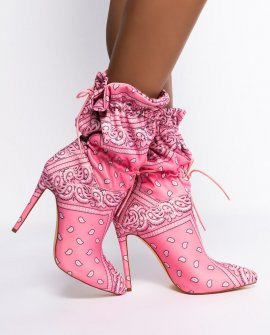 You Know Where to Find Me Stiletto Bootie in Pink