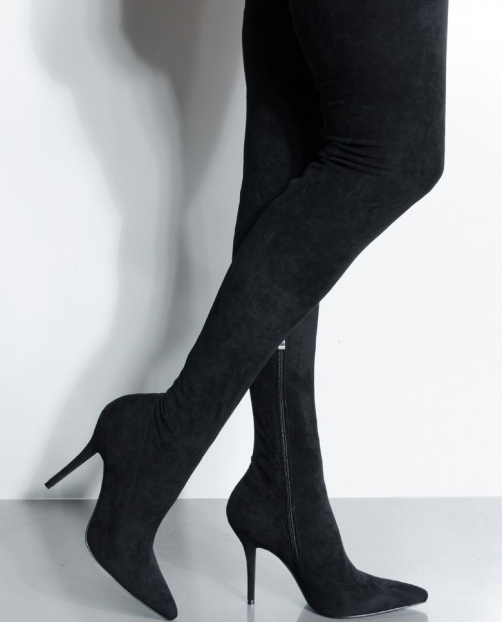 Your Friends Are Taking You Out Thigh High Sexy Heel Suede Boot