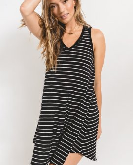 Yuma Stripe Linen Breezy Dress