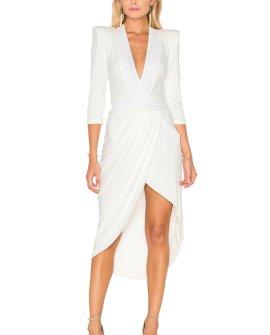 Zhivago Eye Of Horus Midi Dress in White