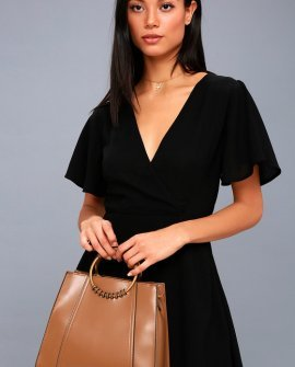 Zinia Brown Handbag