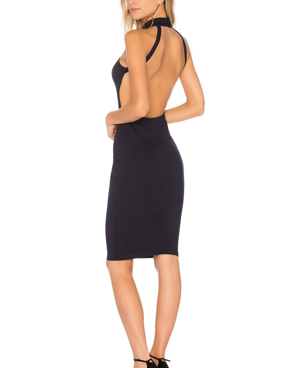 by the way. Sadie Backless Midi Dress in Blue