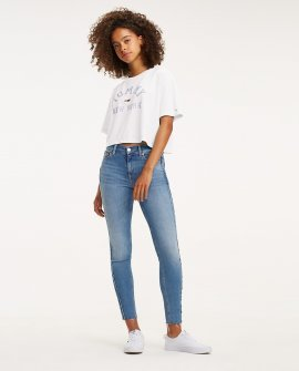Collegiate Cropped Tommy Hilfiger T-Shirt