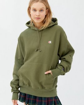 Champion Boyfriend Logo Patch Hoodie Sweatshirt