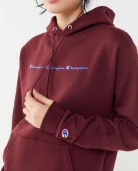 Champion Eco Triple Script Hoodie Sweatshirt