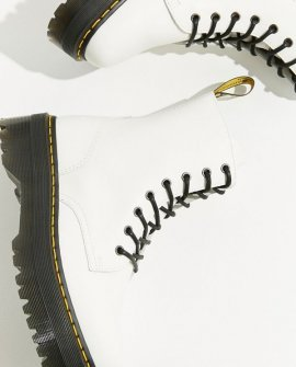 Dr. Martens Jadon 8 Eye Platform White Boot