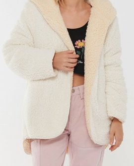 BDG Carmella Reversible Hooded Teddy Jacket