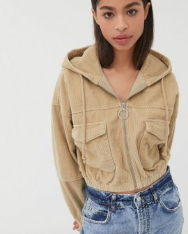 BDG Corduroy Patch Pocket Cropped Jacket