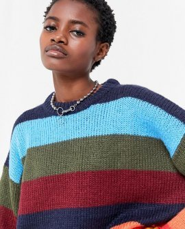 Bobby Boyfriend Striped Crew-Neck Sweater