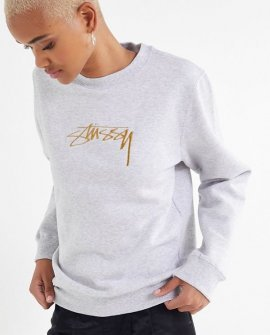 Stussy Embroidered Crew-Neck Sweatshirt