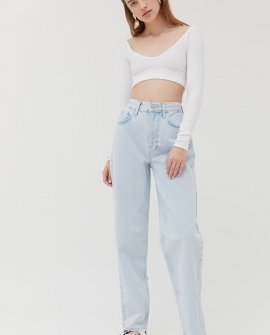 BDG High-Waisted Baggy Jean - Bleached Light Wash