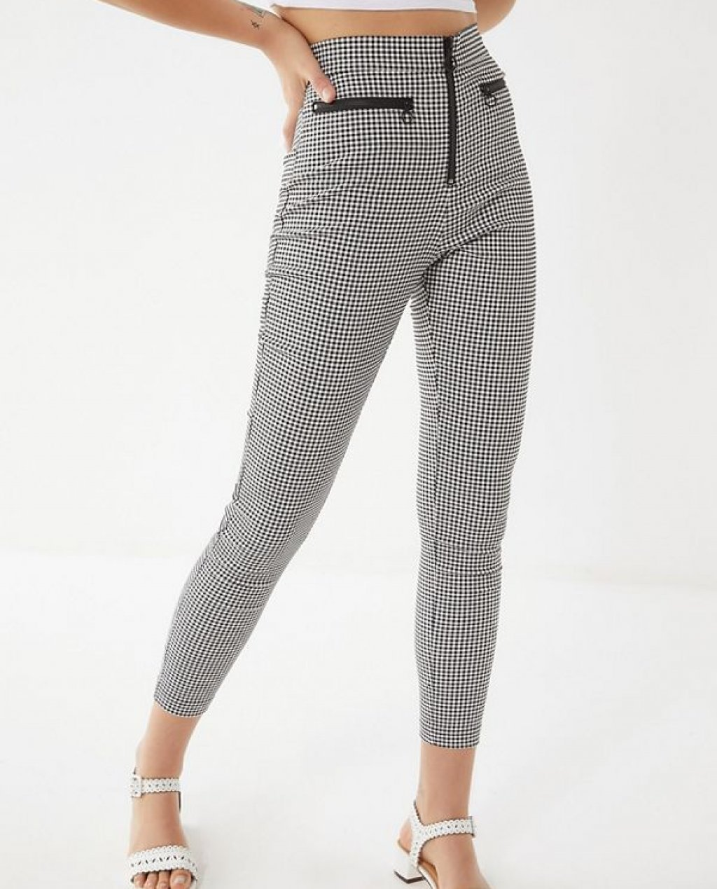 Susie High-Rise Zip-Front Pant